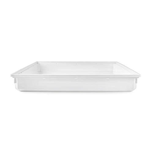 NEDIS WADT110AT70 Vassoio di Raccolta della Lavatrice | 70 x 70 x 10 cm | Bianco
