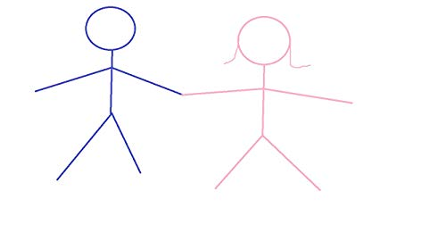 50 pages of stick figures holding hands (English Edition)