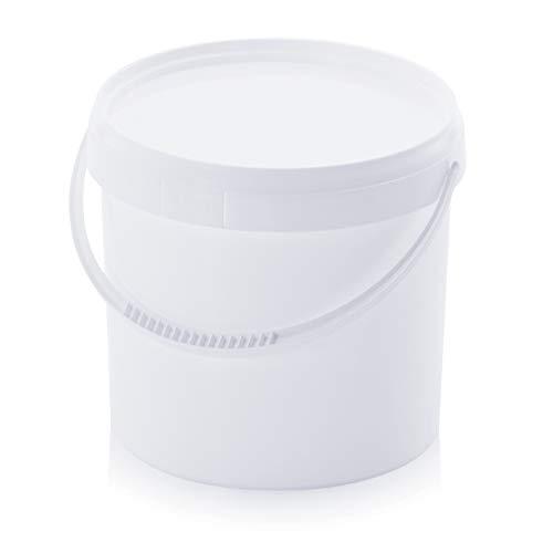 8x Eimer 5,6l * 5l Kunststoffeimer lebensmittelecht Plastikeimer stapelbar weiß