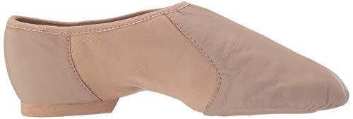 Bloch Dance Women's Neo-Flex Leather and Neoprene Slip On Split Sole Jazz Shoe Brown Size: 5 UK
