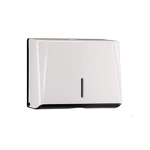 Thomm Dispensador de Toallas de Papel multifald, Soporte de Pared de Toalla de Papel Plegado de C Pliegue Colver 200 Papel multifaldito para Uso Comercial y Comercial, Blanco (Color : White)