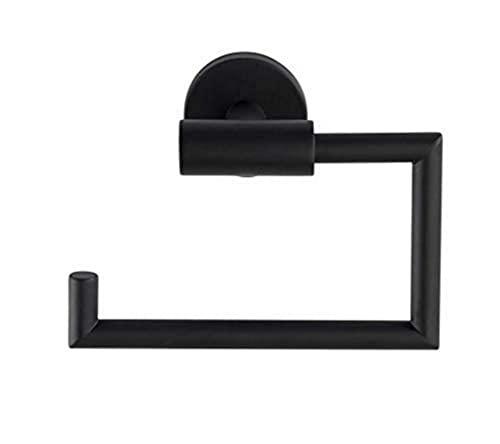 WENKO Toilettenpapierhalter Bosio Edelstahl Black matt ohne Deckel - WC-Rollenhalter, Edelstahl rostfrei, 15 x 10.5 x 6.5 cm, Matt