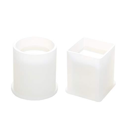 MYBOON DIY Molde de epoxi de Cristal Cuadrado cilíndrico Alto Espejo bolígrafo pequeños moldes para macetas, Sello de álbum