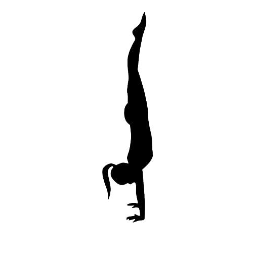 YMSHD niñas Yoga Pose Pilates Pegatinas de Pared Gimnasio Deportes calcomanías de Pared Arte murales decoración del hogar Sala de Estar Dormitorio decoración 29Cmx121Cm