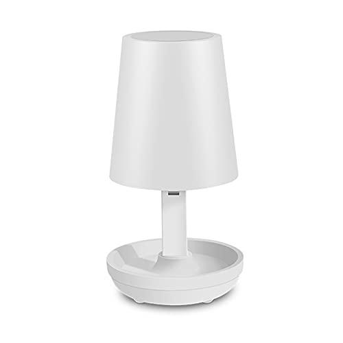 MYFD Lámpara de Escritorio LED, lámpara organizadora de cabecera con Puerto USB, Control Remoto de Carga USB Luz de Noche, para dormitorios Tabla de Noche de Oficina de Mesa de Noche.