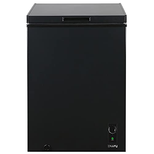Lowry 99 Litre Chest Freezer, 4* Freestanding Freezer, Suitable for Outbuildings & Garages, Compact,1 Year Guarantee, Black, LCF99B-M