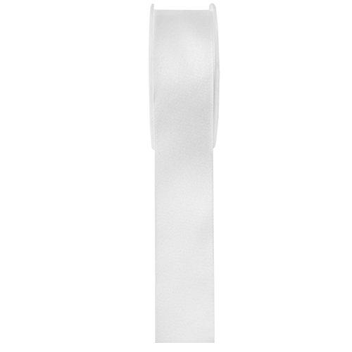 Band Schleifenband 15 mm x 25 m weiss- Dekoband Satinband - 2719.15