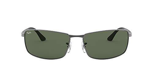 Ray-Ban Unisex Rb3498 Sonnenbrille, Grau (Gestell: Gunmetal Glas: grün 004/71), X-Large (Herstellergröße: 64)