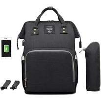 Oopsy Babies Diaper Bag with USB Interface (Black)