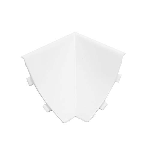 DQ-PP WINKELLEISTE INNENECKE   Weiss   23 x 23mm   PVC   Küchenleiste Arbeitsplatte Abschlussleiste Leiste Küche Küchenabschlussleiste Wandabschlussleiste Tischplattenleisten