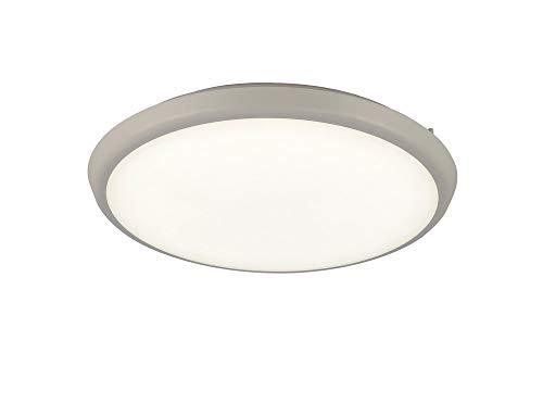 Plafón aplique redondo exterior MANTRA ANETO LED 24W - 4000K - 1700 LMS. Color blanco arena. 40cm de diámetro