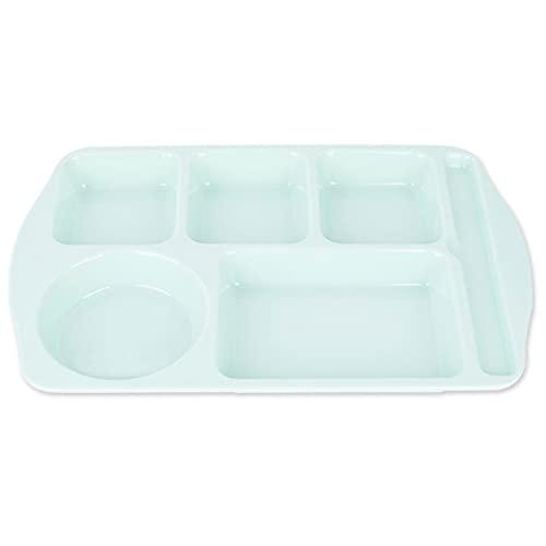 Bandeja para almuerzos escolares para niños, placa de plástico para adultos - Bandeja para almuerzos para niños pequeños y caja fuerte, saludable y fácil de limpiar - Adecuado para la escuela / hotel