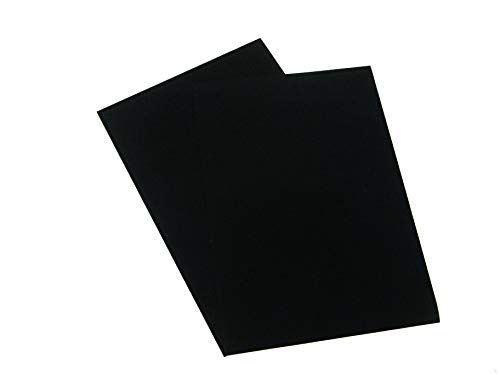 A3 selbstklebende Rückseite, Tabelle Samt Velours Craft DC Fix Vinyl Aufkleber Schwarz Größe: A3