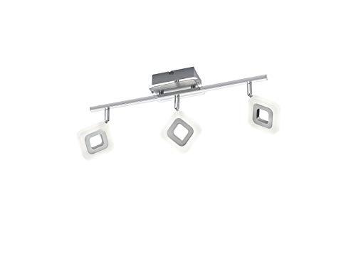Trio Leuchten LED-Deckenleuchte Paradox, Chrom, aluminium Gebürstet, acryl weiß, 871910306