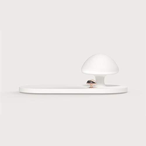 Yuxahiugtd Flexible, lámpara de Escritorio LED de Carga inalámbrica for Qi, Control de Sensor táctil, lámpara Regulable con Puerto de Carga USB, lámpara de Hongo, lámpara de Escritorio LED portátil