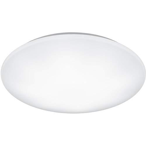 LED Deckenleuchte - Trion Ster - 27W - Anpassbare Lichtfarbe - Dimmbar - Fernbedienung - Rund - Mattweiß - Kunststoff