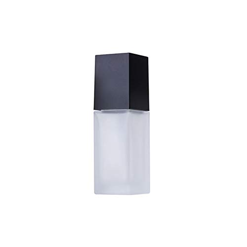 iKulilky - Botella de cristal rectangular transparente para muestras vacías o cosméticos, 30 g