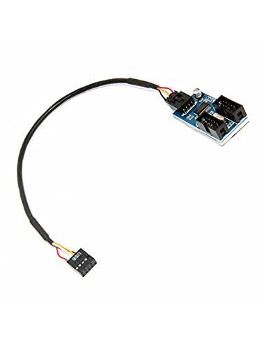 Nihlsen Placa Base Divisor de Cabezal USB de 9 Pines Macho 1...