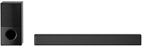 LG SNH5 600W Bluetooth Sound bar with 4.1 Channel Sound for The Full Cinematic Experience, AI Sound Pro, Bass Blast +, Dolby Digital, High-Powered Design (Black), Large