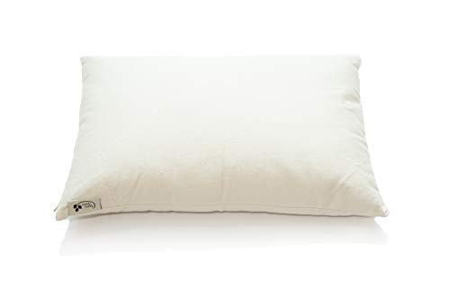 """ComfyComfy Premium Buckwheat Pillow, Traditional Size (14"""" x 21""""), Comes with Extra 1 lb of USA Grown Buckwheat Hulls to Customize for Comfort, Made from Durable Organic Cotton Twill"""
