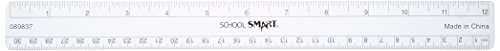 School Smart Flexible Ruler, Inches and Metric, 12 inch, Clear