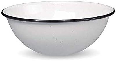 CINSA-315637-Bol acier émaillé-Diam 18cm-Blanc