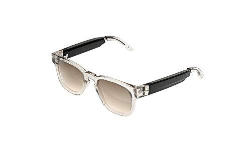 FAUNA Bluetooth Sonnenbrille - Unisex Designer Brille mit Audio-Funktion - Spiro Transparent Brown