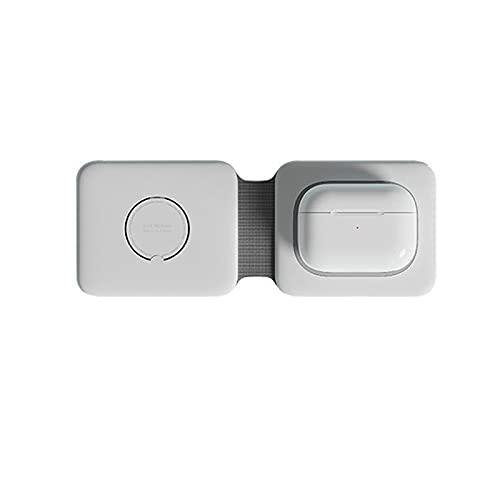 Magnetico Duo Caricatore Senza Fili 2 in 1 Pieghevole 15W Stazione di Ricarica Dock per Apple Orologio 120G Wireless Pad di Ricarica per Android per Iphone 12 per Airpods
