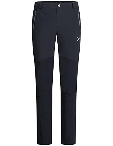 MONTURA Pantalones largos para hombre MPLA80X 9093, color negro, plomo, ideales para alpinismo, esquí, alpinismo, senderismo, escalada, Negro , XXL