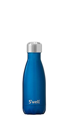 S'well Insulated, DoubleWalled Stainless Steel Water Bottle, Ocean Blue in 9oz