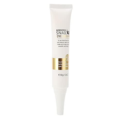 Crema para ojos con extracto de caracol de 30 g, hidratante para reducir las ojeras, desvanecer las arrugas, reafirmante para el cuidado de los ojos, crema antienvejecimiento para los ojos, humectante