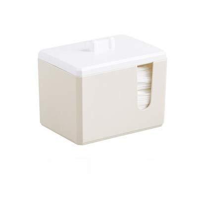 ZHAS Boîte de Rangement pour cosmétiques Boîte de Rangement en Coton Tampon de Coton en Plastique Petite boîte de Finition de Bureau Porte-Coton-Tige