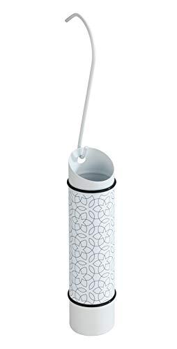 Wenko 50390100 Luft-Befeuchter Blüten - Raumbefeuchter mit Motiv für die Heizung, Edelstahl rostfrei, 5 x 20 x 5 cm, Weiß