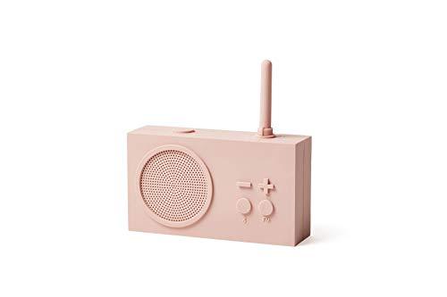 Lexon TYKHO 3 Radio FM + Altavoz Bluetooth Rosa