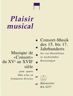 CONSORT MUSIK DES 15 - 17 JAHRHUNDERTS - arrangiert für Blockflötenquartett [Noten / Sheetmusic]