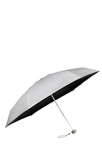 Samsonite Minipli Colori S - Manual Folding Umbrella (5 Section), Diameter 87 cm, Silver (Metallic Silver)