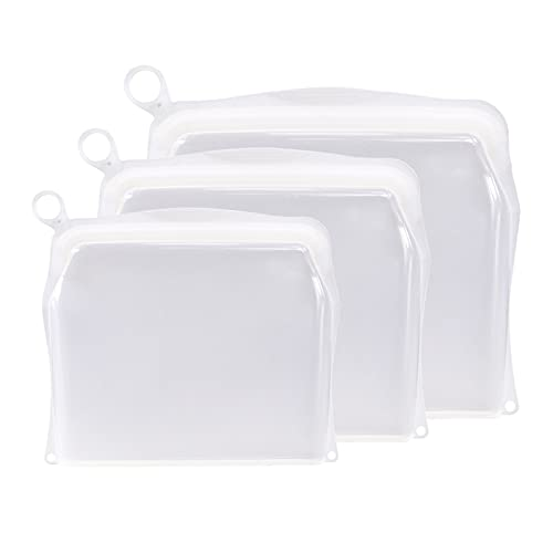 Amuzocity Sándwich de Cítricos Reutilizable de Bolsa de Almacenamiento Reutilizable de Silicona de Platino 3X - Claer