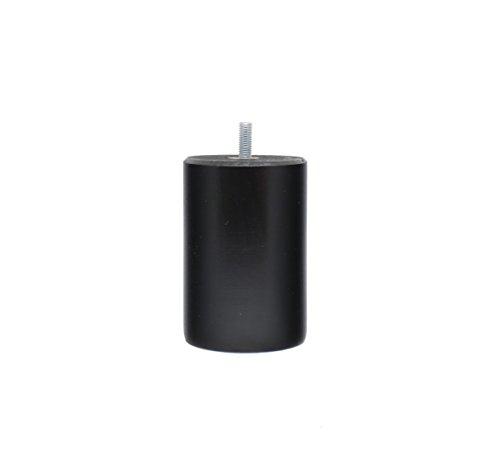 La Fabrique de Pieds Jeu de 4 Pieds de Lit, Bois, Laqué Noir, 10 x 7 x 7 cm