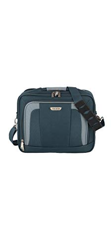 Travelite Handgepäck Tasche mit Aufsteckfunktion, Gepäck Serie ORLANDO: Klassische Weichgepäck Bordtasche im zeitlosen Design, 098484-20, 18 Liter, 1,0 kg, marine (blau)
