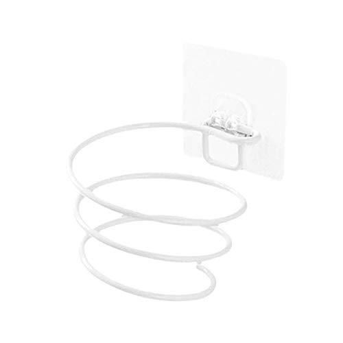 RAQ Wandmontage föhn rek badkamer wandhouder rek opslagrek haardroger steun houder spiraal staander salon stylist tool wit