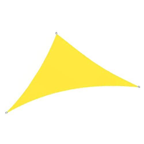 Sun Shade Sail Triangle Yellow, Pantalla de privacidad Impermeable, Protección Solar para terraza, Protección UV Impermeable, Hecho de PES Resistente al desgarro, Resistente al Vie