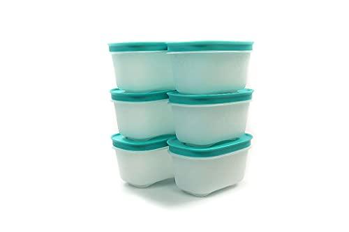Tupperware Gefrier Behälter 170 ml weiß Minze (6) EIS-Kristall Dose Eiskristall Gefrier-Behälter