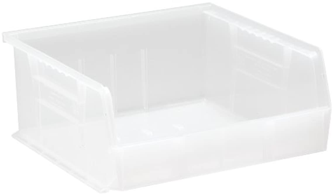 Quantum QUS235 Plastic Storage Stacking Ultra Bin, 10-Inch by 11-Inch by 5-Inch, Clear, Case of 6