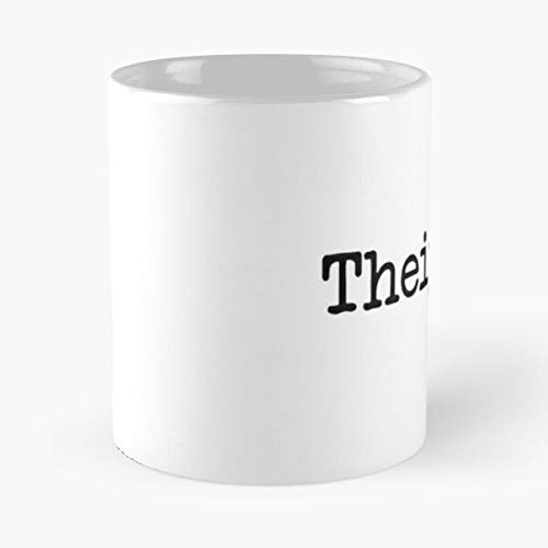 Police Grammar Thurr English Theyre Teaching Language Troll The Best Taza de café de cerámica blanca de 315 ml