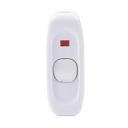 SGerste AC220 V 10 A Ein-/Aus-Indikator Kabel Inline Push Botton Lichtschalter für Tischlampe