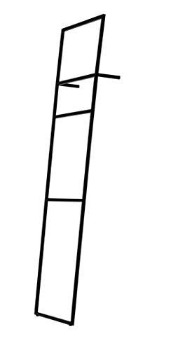 Jan Kurtz Loop Up Handtuchleiter, Stahl, schwarz, 143x70x10cm