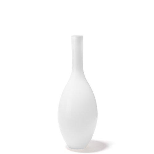 Leonardo Beauty Vase weiß, Höhe 50 cm, Durchmesser 18 cm, handgefertigtes Farbglas, 052455