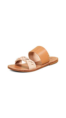 Soludos Women's Braided Slide Sandal, Acorn Brown, 7.5 Regular US
