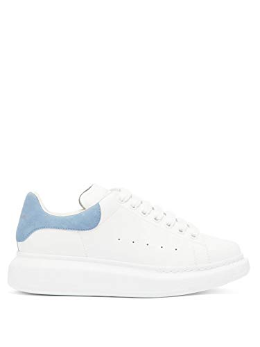 Alexander McQueen White/Light Blue Oversize Low Top Sneakers New and Authentic FW20 (10)