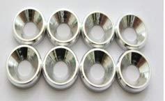 Siva Toys D10064 M4 Backing Silber 8 Stück, Mehrfarbig